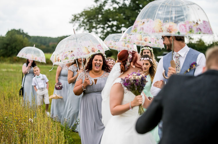 Flower Floral Umbrellas Mismatched Colourful Wildflower Meadow Wedding Hush Venues Norfolk http://lighteningphotography.co.uk/