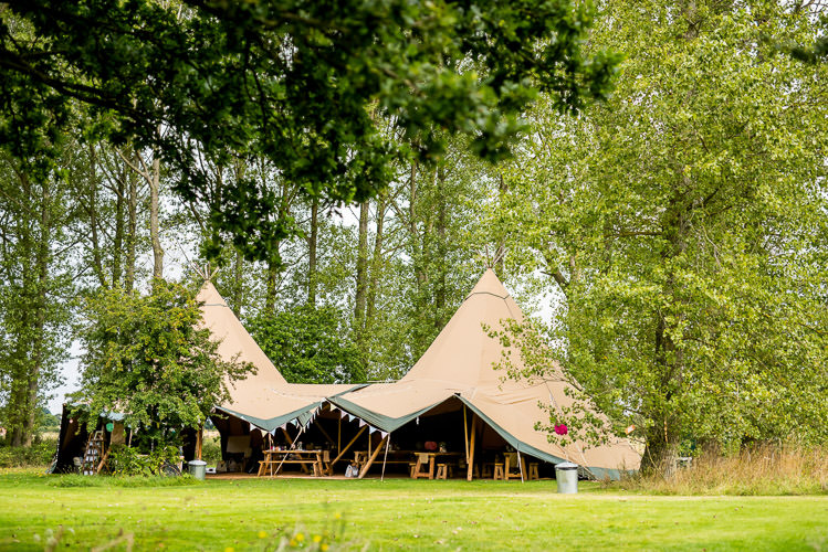 Tipi Woodland Mismatched Colourful Wildflower Meadow Wedding Hush Venues Norfolk http://lighteningphotography.co.uk/