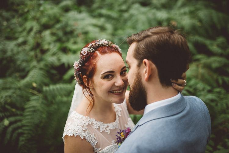 Bride Bridal Make Up Flower Crown Mismatched Colourful Wildflower Meadow Wedding Hush Venues Norfolk http://lighteningphotography.co.uk/