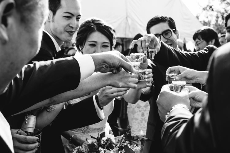 Outdoor Field Rustic Marquee Tipi Tent Bride Groom Shots | Black Tie Carnival Wedding Hot Air Balloon http://www.makingthemoment.com/
