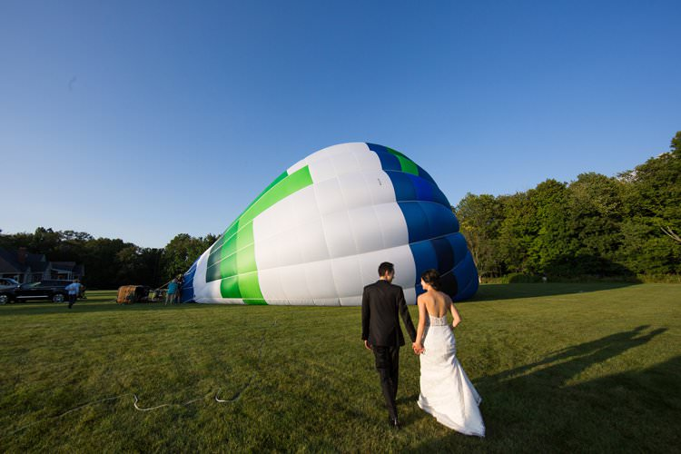 Black Tie Carnival Wedding Hot Air Balloon http://www.makingthemoment.com/
