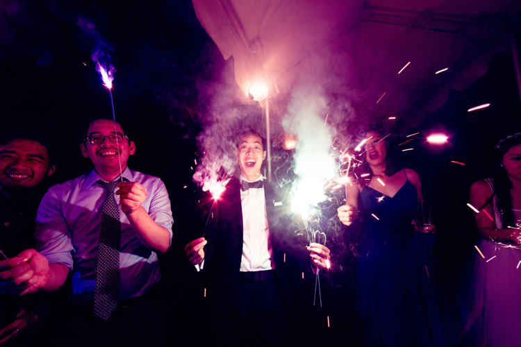 Outdoor Summer Field Rustic Marquee Tipi Tent Sparklers | Black Tie Carnival Wedding Hot Air Balloon http://www.makingthemoment.com/