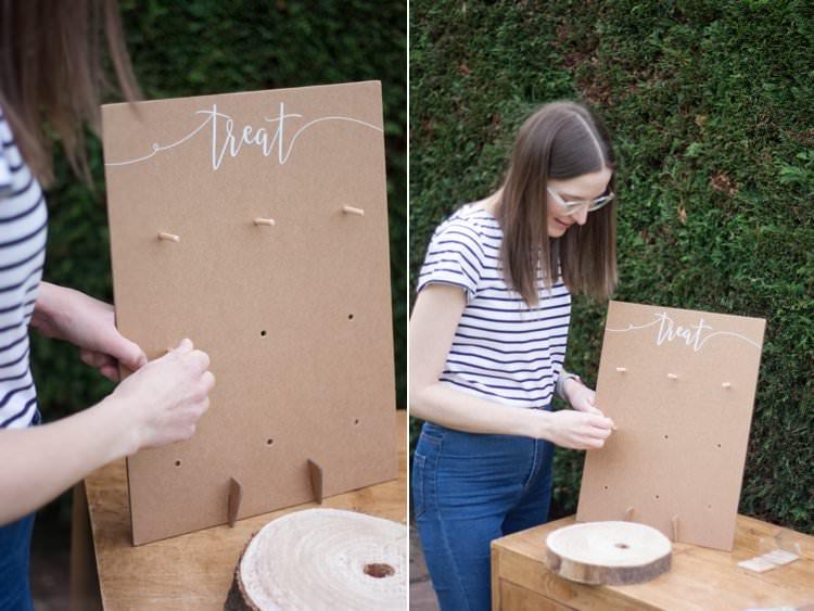 DIY Wedding Dessert Table Tutorial Cake Donut Wall Doughnut Stand