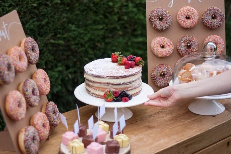 DIY Wedding Dessert Table Tutorial Cake White Glazed Stand