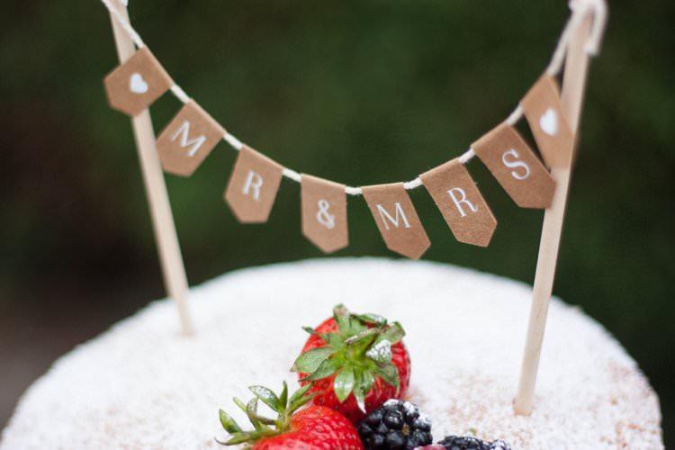 DIY Wedding Dessert Table Tutorial Cake Topper