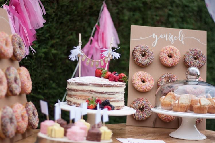 DIY Wedding Dessert Table Tutorial Cake