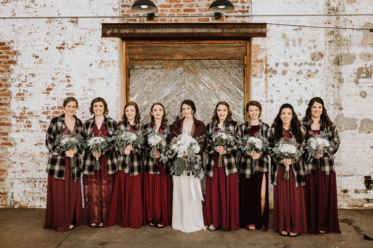 Bohemian Industrial Oxblood Wedding https://www.lunaleephotos.com/