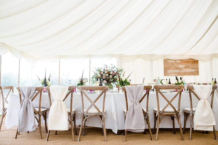 Rustic Wooden Chair Cross Back Blanket Grey Cream Autumn Countryside Family Farm Wedding Dorset http://www.lydiastampsphotography.com/