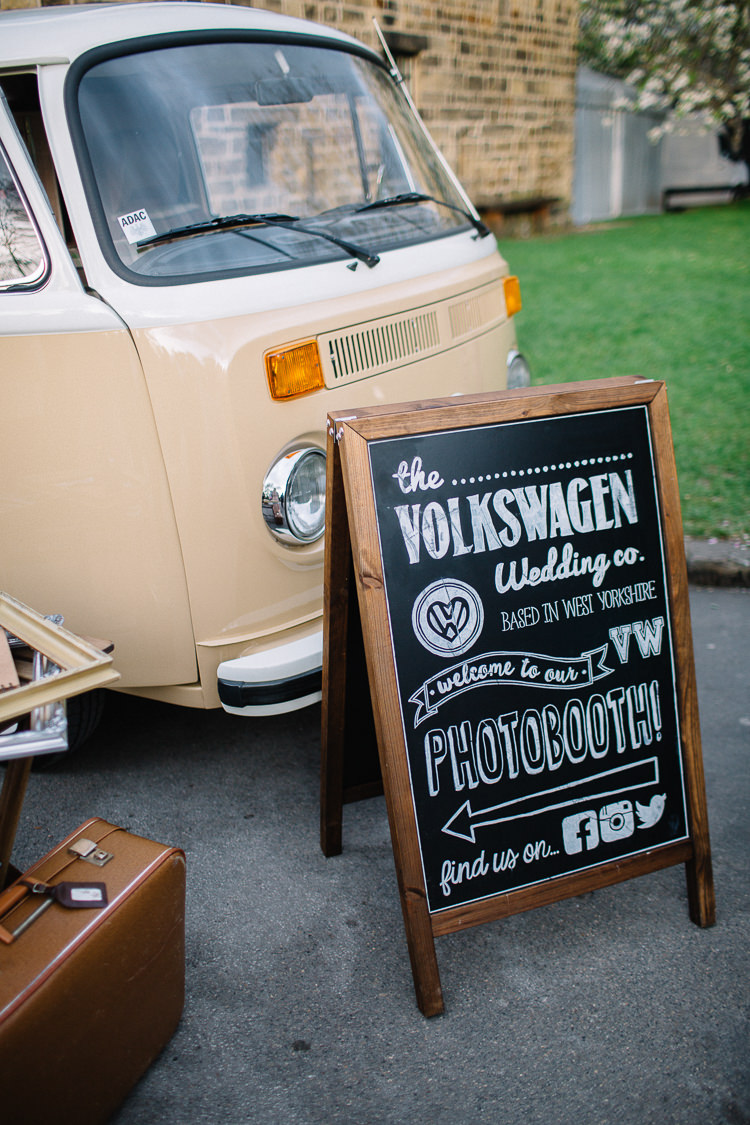 VW Camper Photo Booth Brass Copper Music Filled Barn Wedding East Riddlesden Hall Yorkshire https://www.joestenson.co.uk/