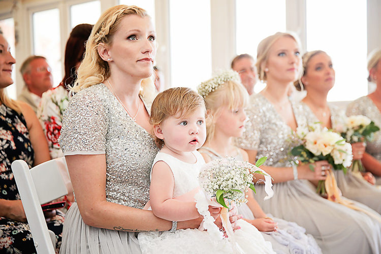 Sequins Bridesmaids Silver Tulle Flower Girls Gypsophila Pretty Sparkly Lusty Glaze Beach Cornwall Wedding http://victoriamitchellphotography.com/