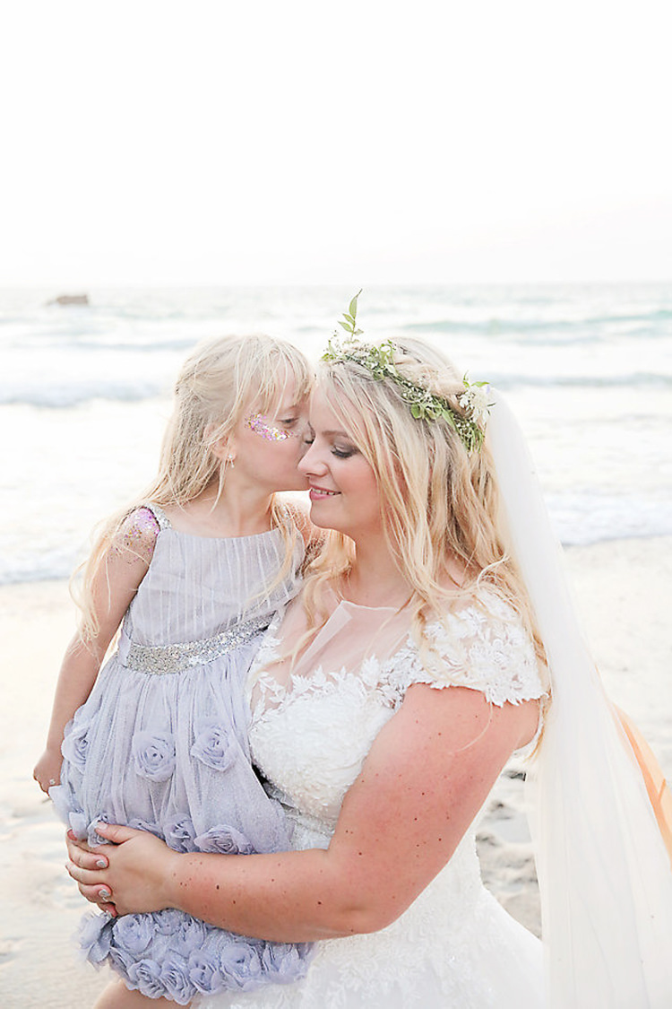 Pretty Sparkly Lusty Glaze Beach Cornwall Wedding http://victoriamitchellphotography.com/