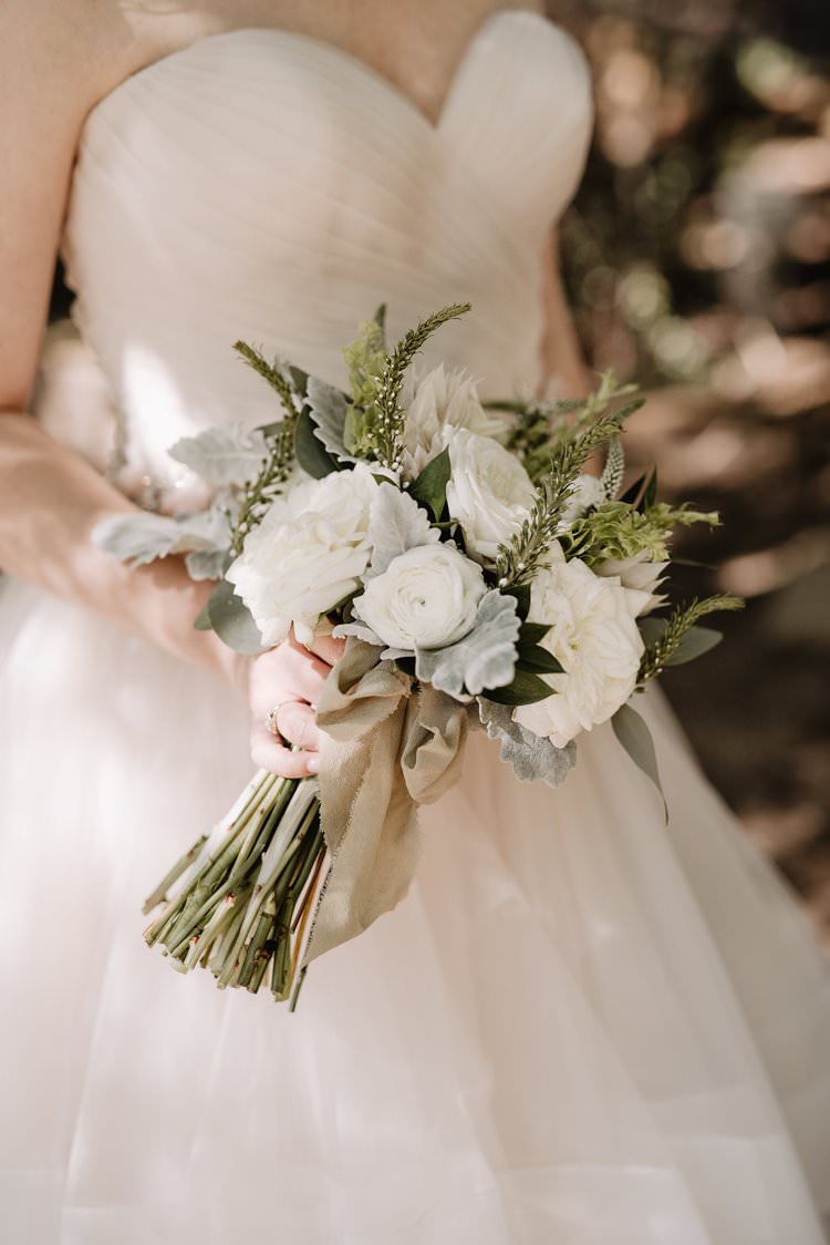 Outdoor Destination Classic Pink Bride Gown Neutral Simple White Greenery Bouquet | Dreamy Blush Emerald Fairytale Wedding Oklahoma http://www.kelcyleighphotography.com/