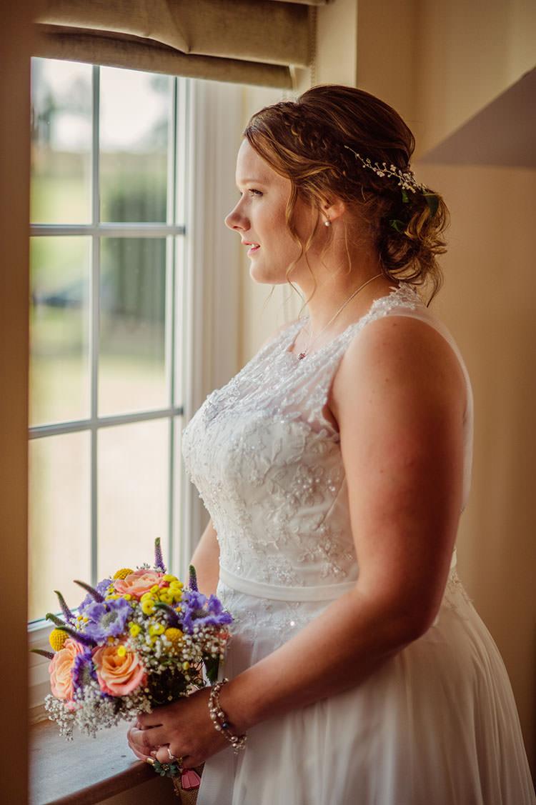 Amanda Wyatt Promise Ivory Dress Gown Bride Bridal Bridge House Barn Leicestershire Wedding Colourful DIY Festival Tipi https://bpwphotography.com/