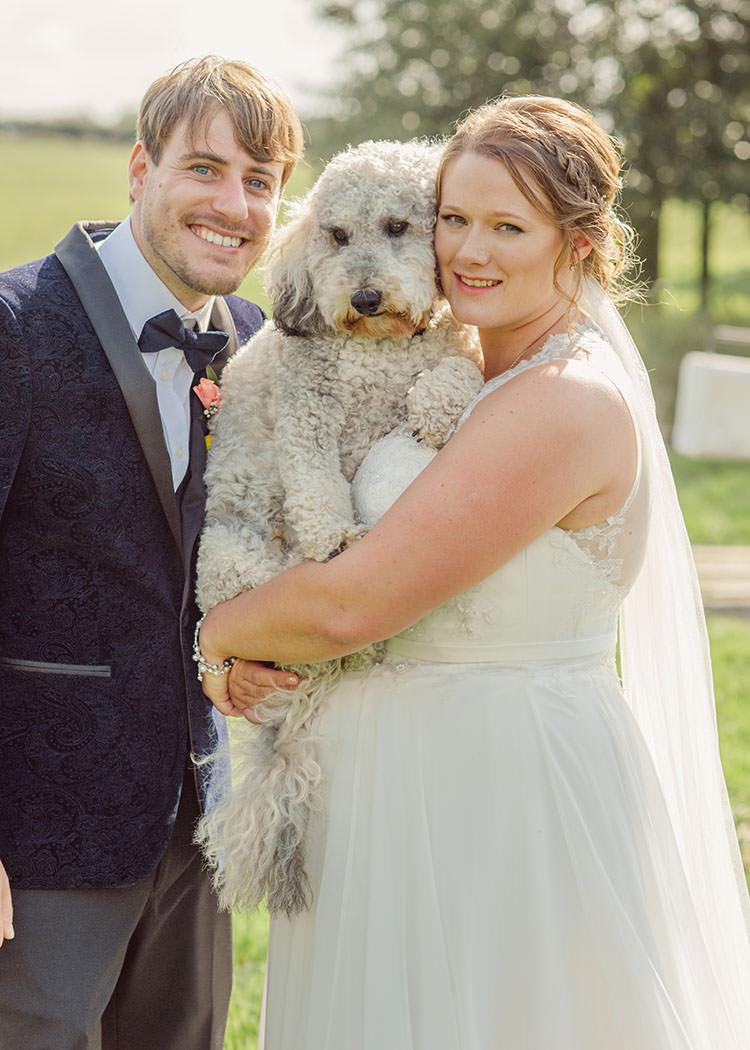 Dog Pet Pup Bridge House Barn Leicestershire Wedding Colourful DIY Festival Tipi https://bpwphotography.com/