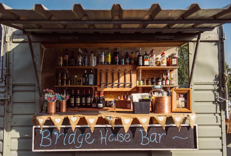 Bar Rustic Vintage Bridge House Barn Leicestershire Wedding Colourful DIY Festival Tipi https://bpwphotography.com/