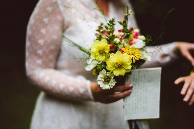 Bride Bridal Wild Flower Dahlia Meadow Rustic Woodland Organic Farm Shop Wedding Gloucestershire https://www.edgodden.co.uk/