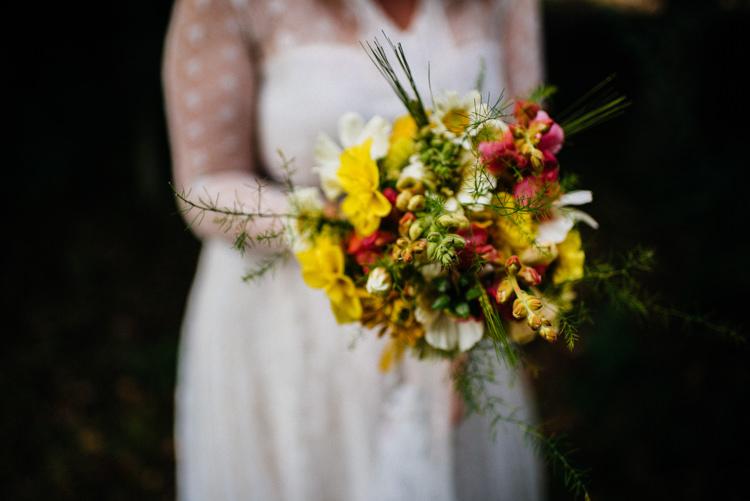 Bride Bridal Bouquet Wild Flower Meadow Woodland Organic Farm Shop Wedding Gloucestershire https://www.edgodden.co.uk/