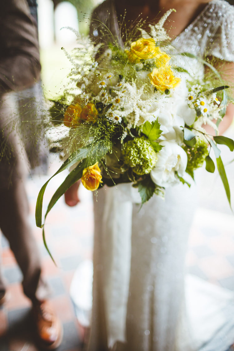 Rose Astilbe Daisy Bouquet Bride Bridal Flowers Relaxed Country Tipi Yellow Wedding Hampshire https://photography34.co.uk/