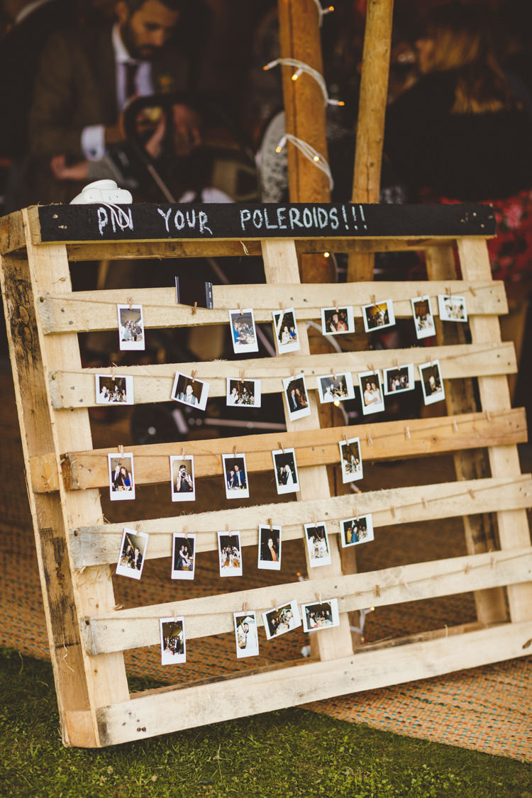Polariod Photos Wall Peg String Relaxed Country Tipi Yellow Wedding Hampshire https://photography34.co.uk/