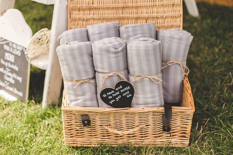Blanket Hamper Colourful Outdoor Tipi Farm Wedding https://kirstymackenziephotography.co.uk/