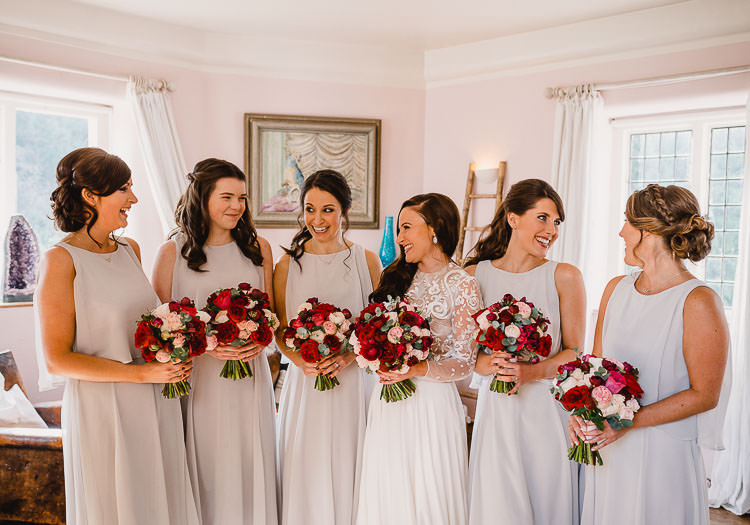 Grey Bridesmaid Dresses Raucous Artistic Wintry Wedding Voewood Norfolk https://www.luisholden.com/