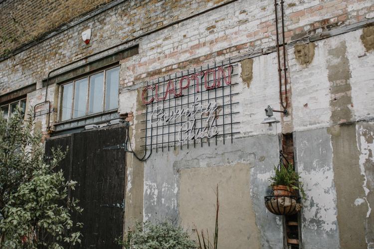 Clapton Country Club London Luxe Industrial Velvet Wedding Ideas https://jessypapasavvaphotography.com/