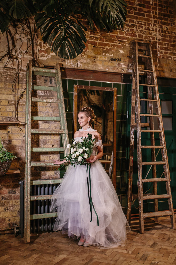 Bridal Separates Top Skirt Lace Tulle Dress Gown Bride Bridal Lilac Luxe Industrial Velvet Wedding Ideas https://jessypapasavvaphotography.com/
