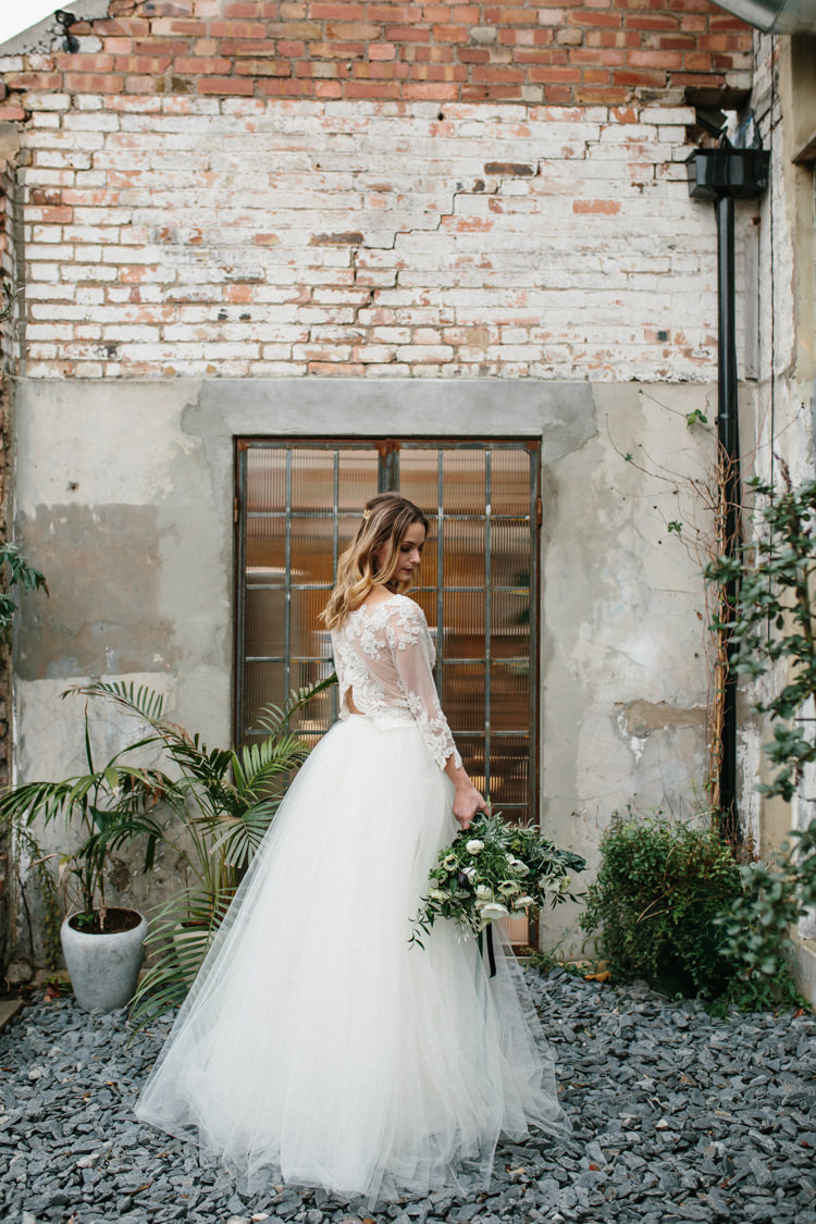 Luxe Industrial Velvet Wedding Ideas