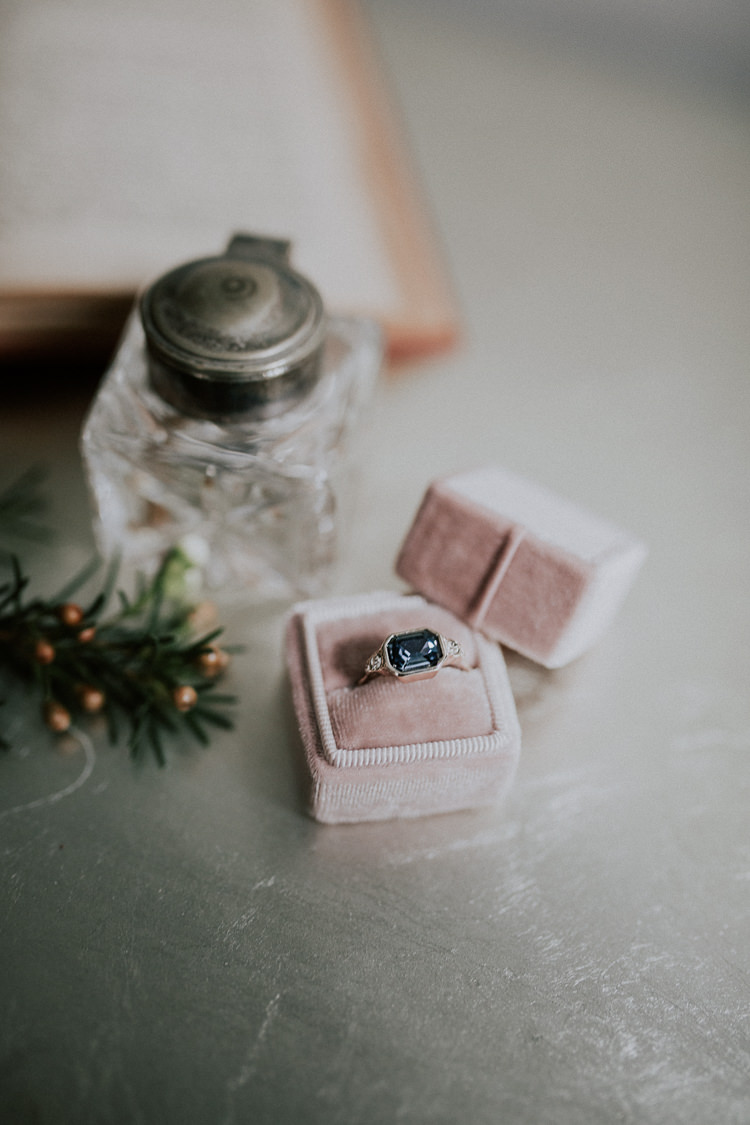 Ring Box Pale Pink Engagement Band Moody Jewel Tone Velvet Wedding Ideas Sanctum On The Green https://lolarosephotography.com/