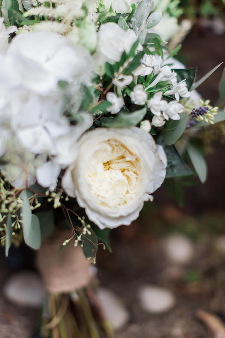 Bouquet Flowers Bride Bridal White Peony Hydrangea Rose Wheat Greenery Hazy Summer Lavender Grey Wedding Cripps Barn Cotswolds http://jobradbury.co.uk/