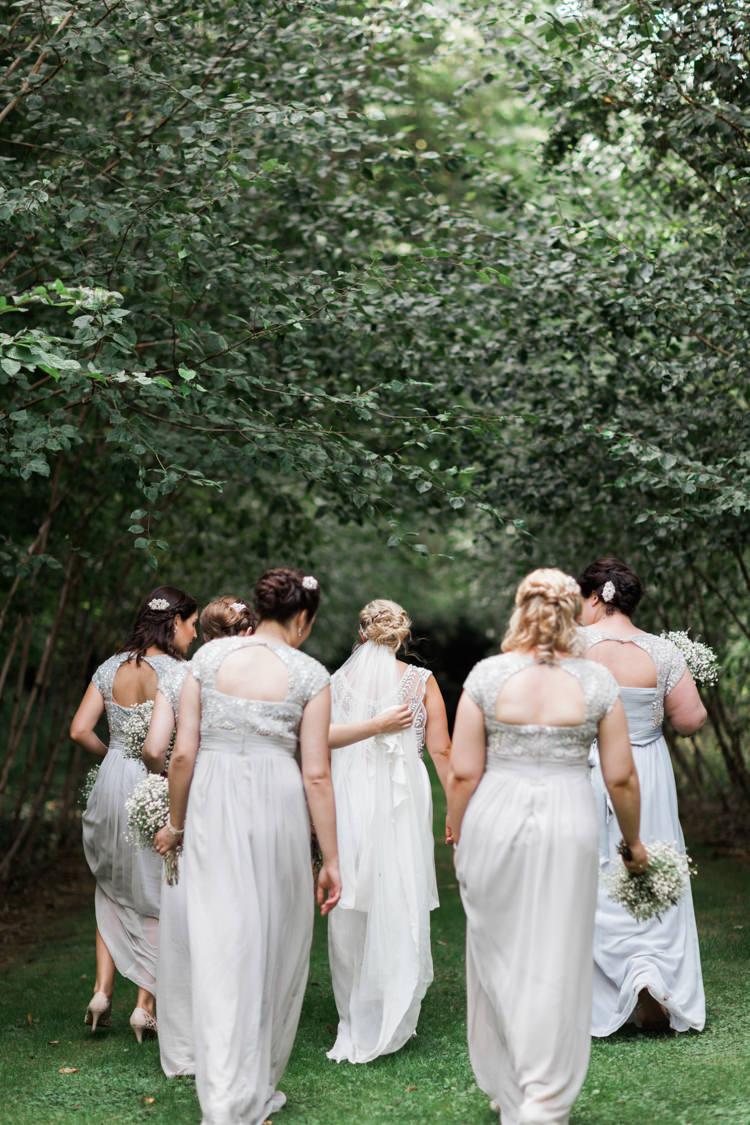 Long Maxi Embellished Bridesmaid Dresses Hazy Summer Lavender Grey Wedding Cripps Barn Cotswolds http://jobradbury.co.uk/