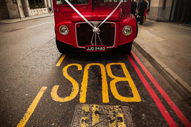 Routemaster Bus 195 Piccadilly BAFTA London Wedding Matt Parry Photography