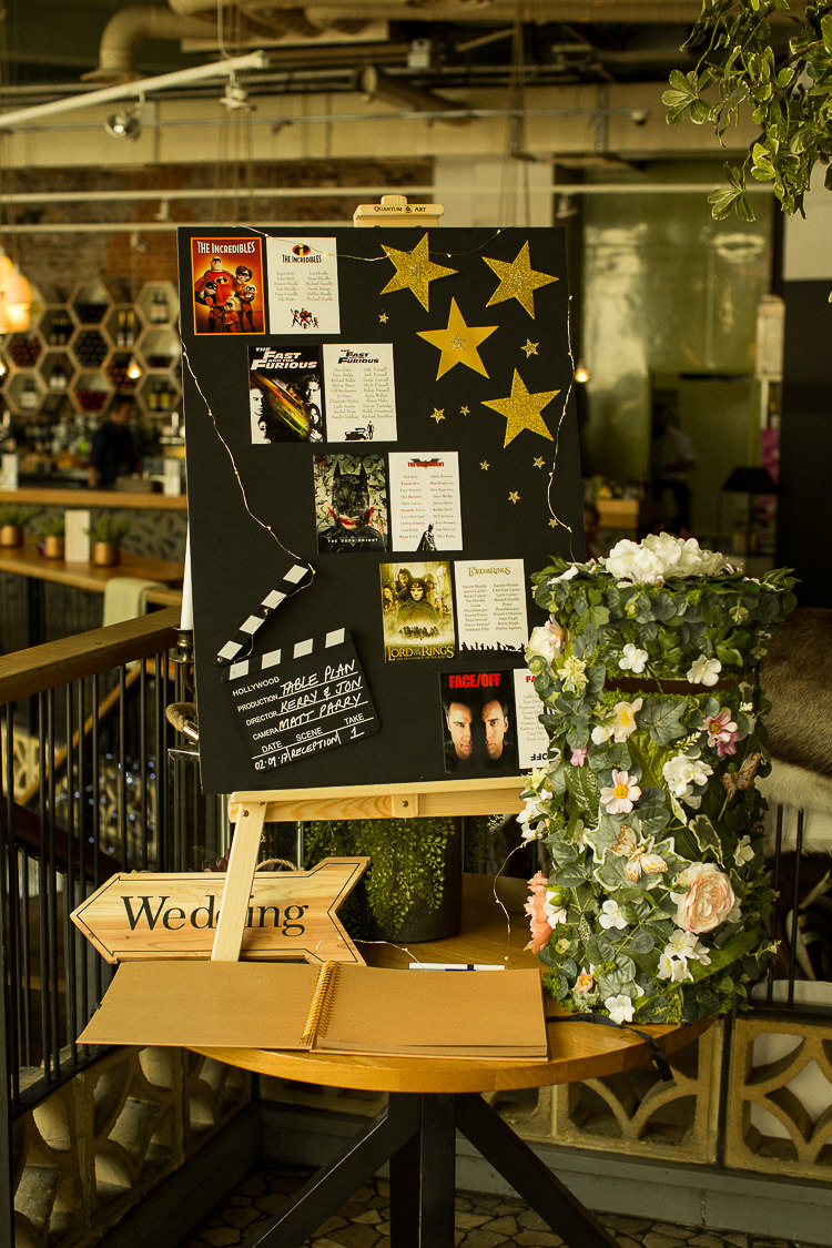 Movie Film Seating Plan Table Chart 195 Piccadilly BAFTA London Wedding Matt Parry Photography