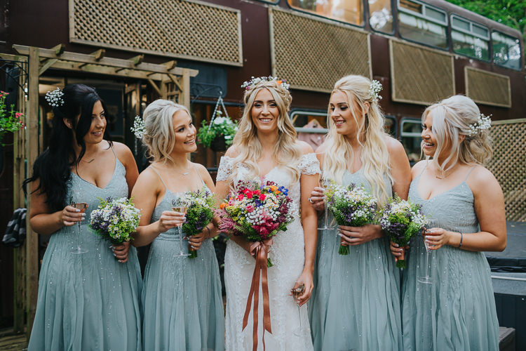 Pale Blue Sparkle Bridesmaid Dress Angrove Park Tipi Wedding Yorkshire Bloom Weddings