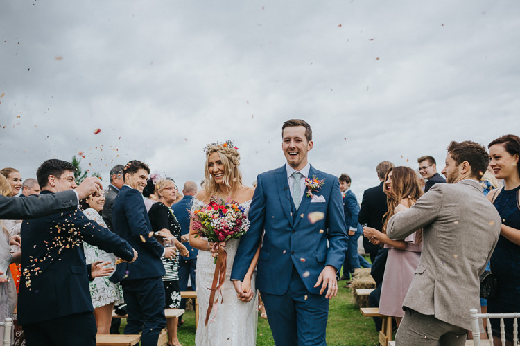 Confetti Angrove Park Tipi Wedding Yorkshire Bloom Weddings