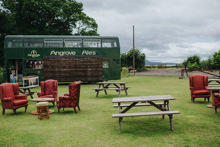 Bus Bar Drinks Angrove Park Tipi Wedding Yorkshire Bloom Weddings