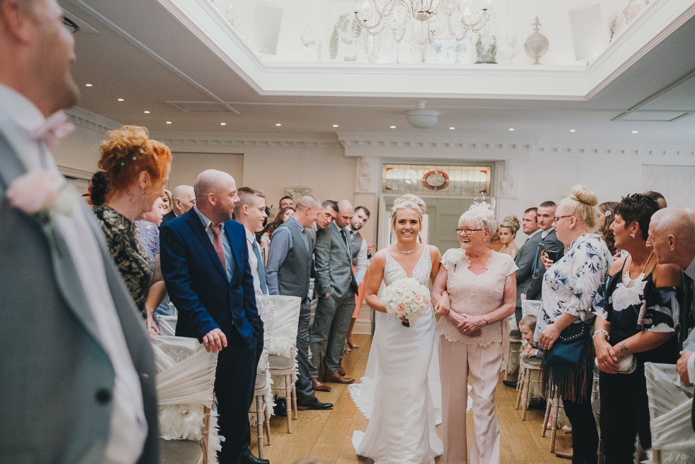 Ceremony Aisle Bride Mother Bouquets Classic Traditional Elegant Round | Ashfield House Wedding Kate McCarthy Photography