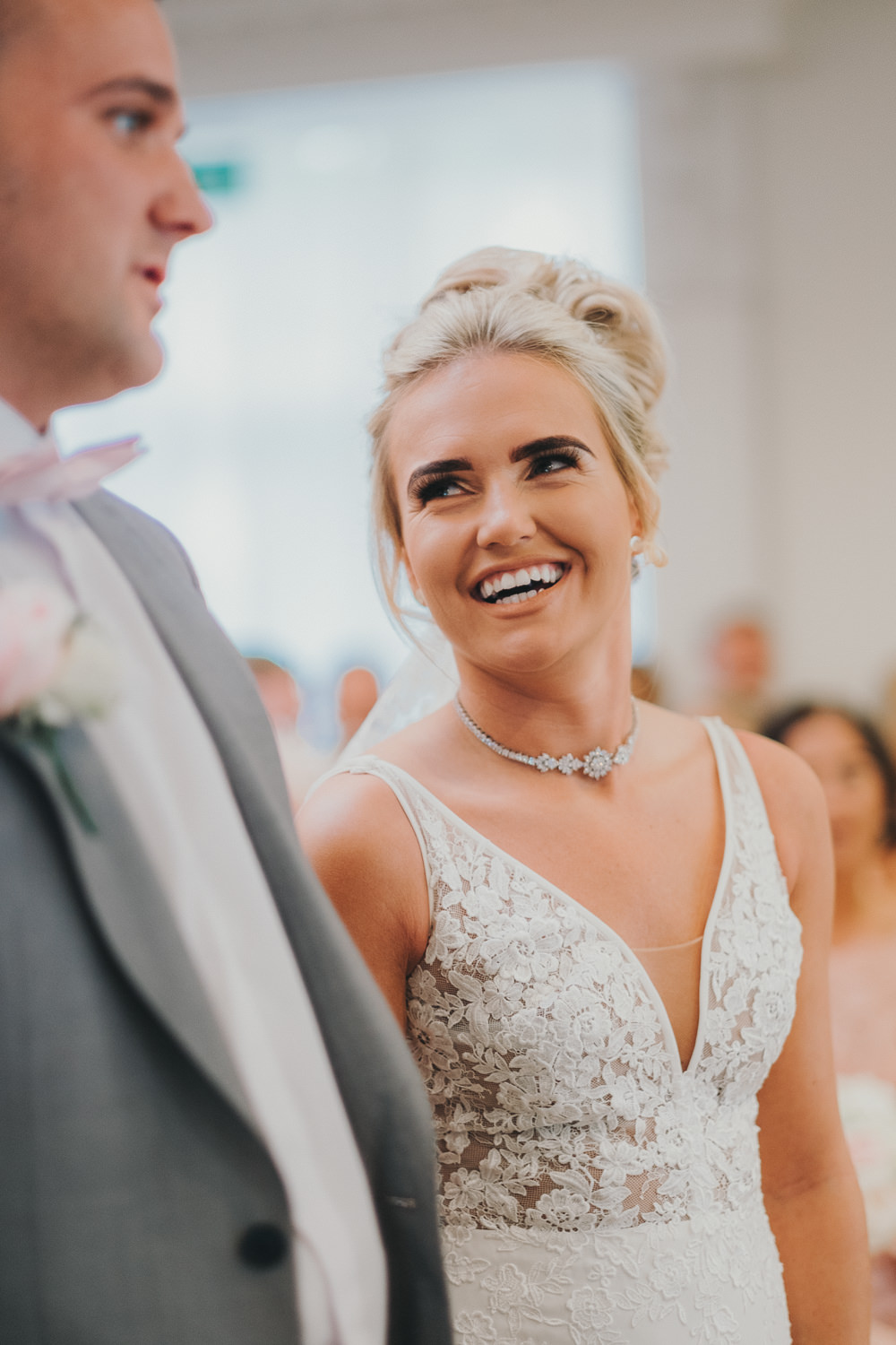 Ceremony Aisle Bride Groom Vows Classic Traditional Elegant | Ashfield House Wedding Kate McCarthy Photography