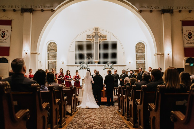 Warehouse Rustic Chic Refined Church Aisle Ceremony Groom Bride | Boho Industrial Winter Wedding Lunalee Photography