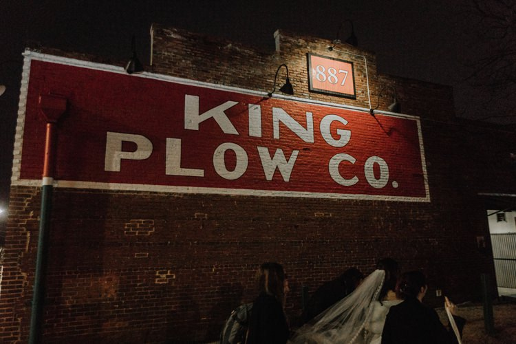 Warehouse Rustic Chic Refined Street Photography Atlanta King Plow | Boho Industrial Winter Wedding Lunalee Photography