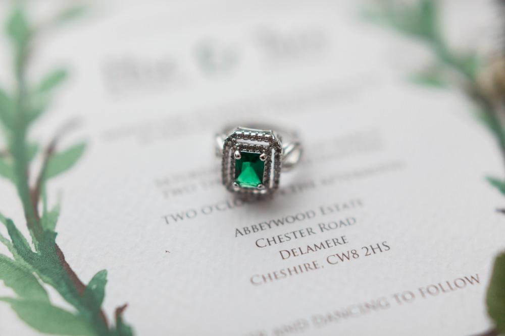 Emerald Engagement Ring Botanical Macrame Glass House Wedding Ideas Jo Bradbury Photography