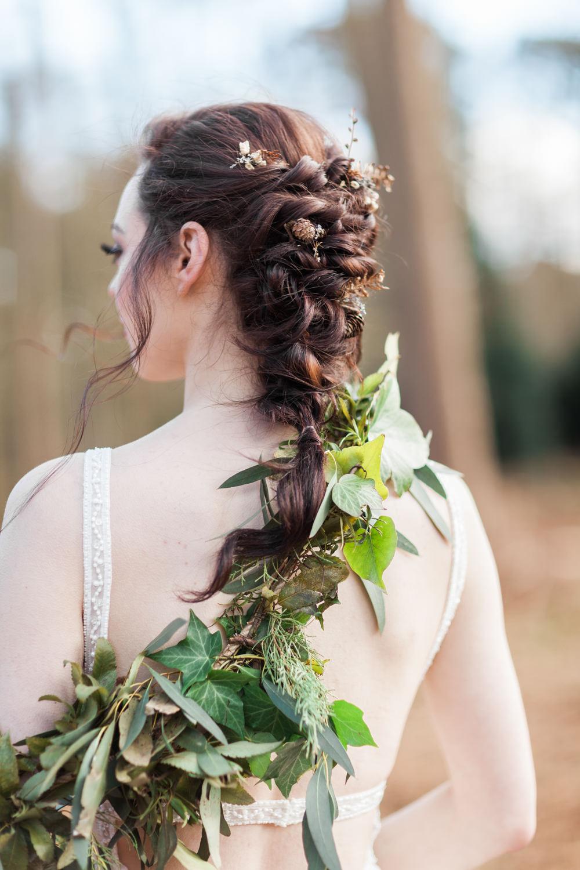 Hair Bride Bridal Plait Braid Botanical Macrame Glass House Wedding Ideas Jo Bradbury Photography