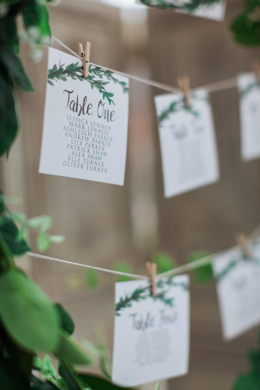 Seating Plan Table Plan String Pegs Botanical Macrame Glass House Wedding Ideas Jo Bradbury Photography