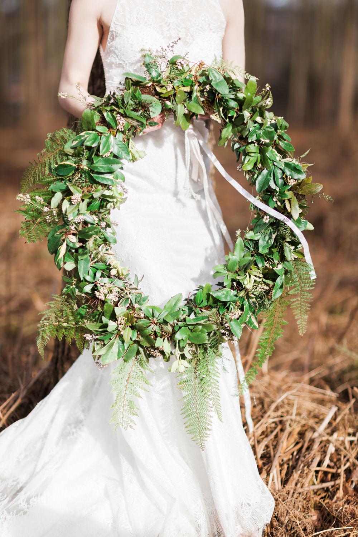 Wreath Hoop Greenery Foliage Fern Botanical Macrame Glass House Wedding Ideas Jo Bradbury Photography
