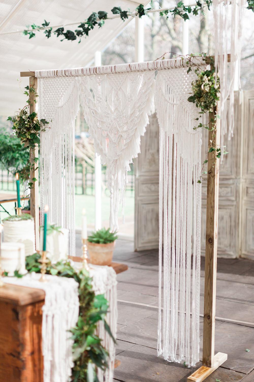 Backdrop Frame Botanical Macrame Glass House Wedding Ideas Jo Bradbury Photography