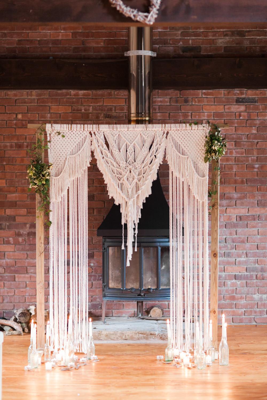 Baackdrop Frame Candles Botanical Macrame Glass House Wedding Ideas Jo Bradbury Photography