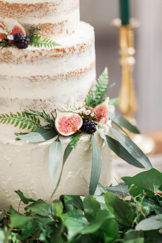 Semi Naked Cake Foliage Buttercream Botanical Macrame Glass House Wedding Ideas Jo Bradbury Photography