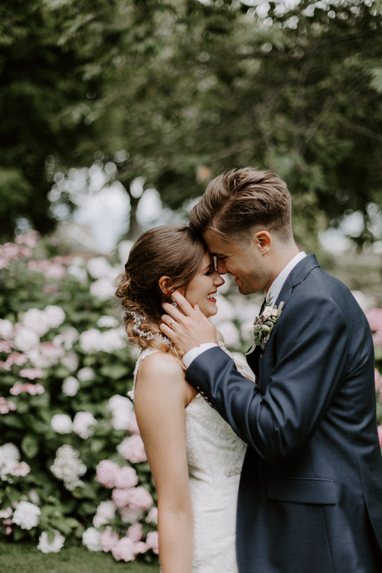 Hair Bride Bridal Pony Tail Style Plait Braid Botanical Summer Garden Wedding Nottingham Grace Elizabeth Photo & Film