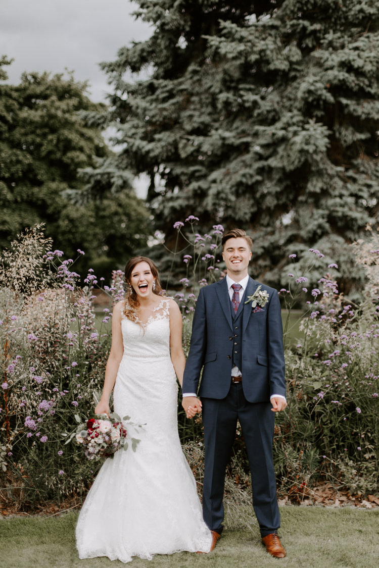 Groom Suit Navy Red Tie Style Outfit Attire Botanical Summer Garden Wedding Nottingham Grace Elizabeth Photo & Film