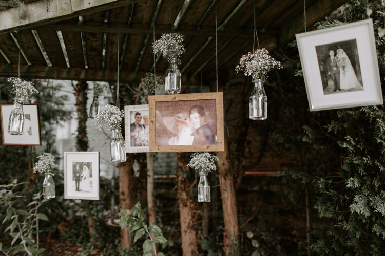 Hanging Photos Photographs Family Wall Botanical Summer Garden Wedding Nottingham Grace Elizabeth Photo & Film